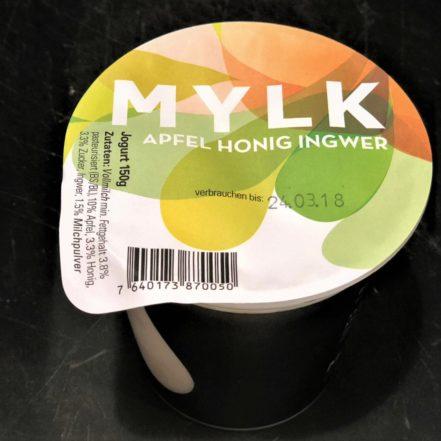 Jogurt Apfel Honig Ingwer
