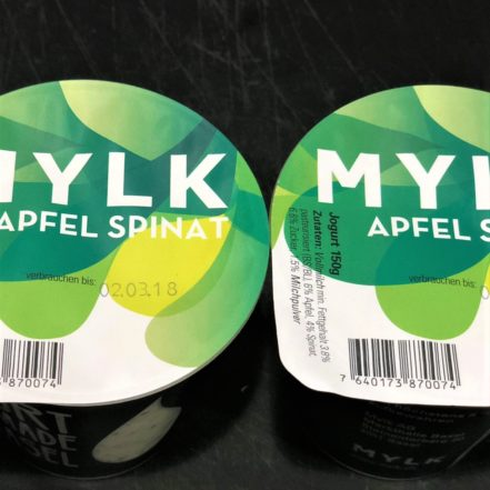 Jogurt Apfel Spinat
